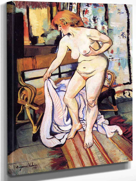 Nude Standing In Front Of Curtains By Suzanne Valadon