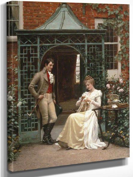 On The Threshold By Edmund Blair Leighton