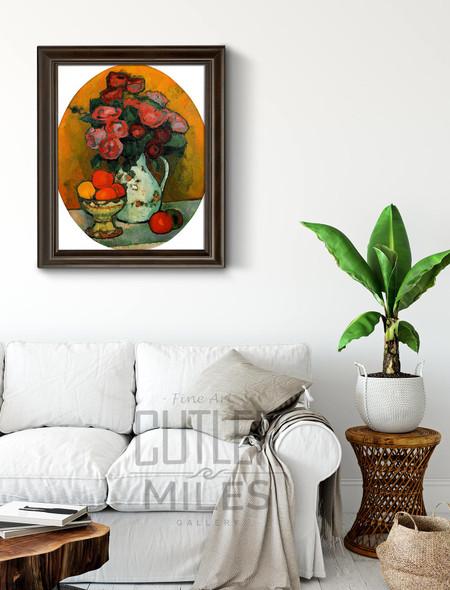 Oval Still Life With Flowers By Alexei Jawlensky By Alexei Jawlensky