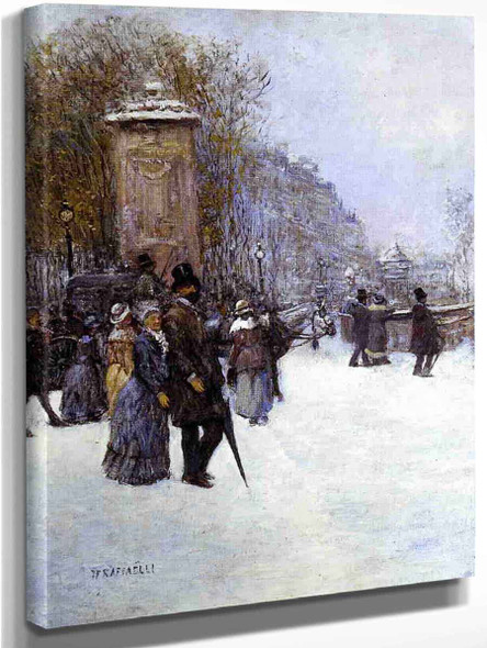 Paris, Promenade By Jean Francois Raffaelli By Jean Francois Raffaelli