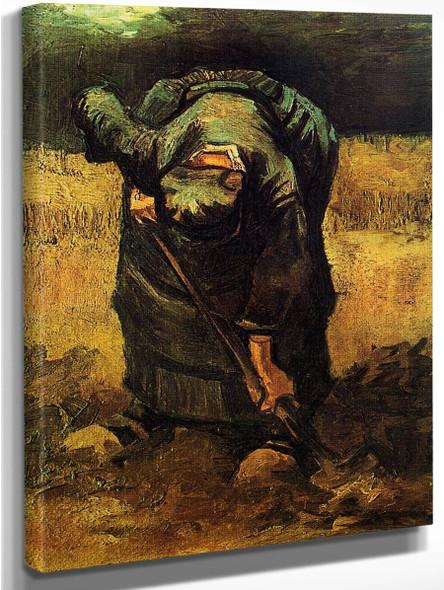 Peasant Woman Digging1 By Jose Maria Velasco
