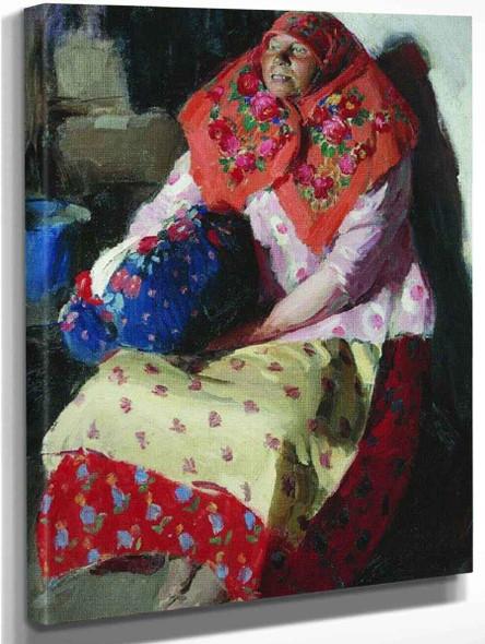 Peasant Woman By Abram Efimovich Arkhipov