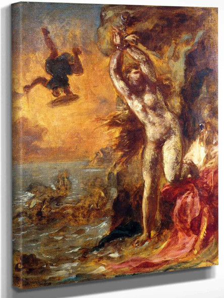 Perseus And Andromeda By Eugene Delacroix By Eugene Delacroix