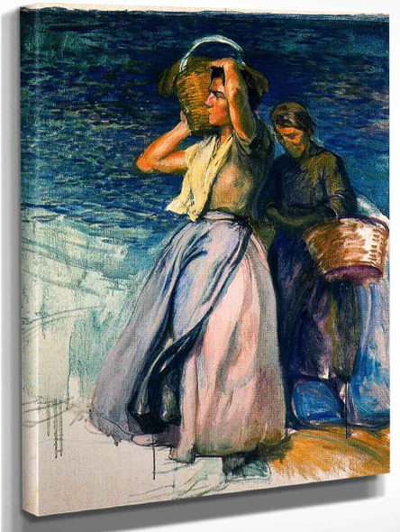 Pescadoras By Jose Mongrell Torrent(Spanish, 1870 1937)