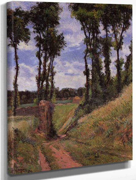 Poplars, Osny  By Paul Gauguin