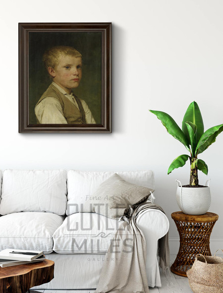 Portrait Of A Boy1 By Albert Anker