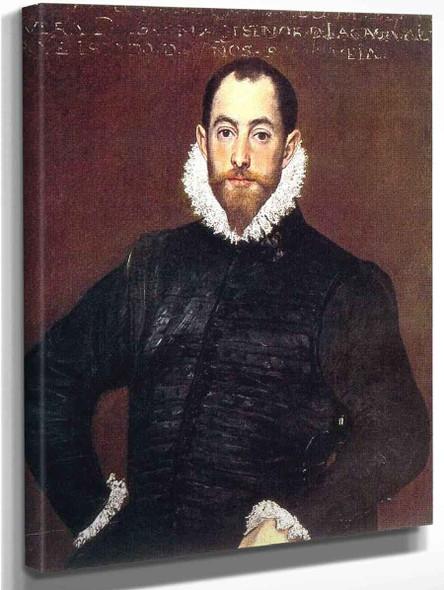 Portrait Of A Gentleman From The Casa De Leiva By El Greco By El Greco