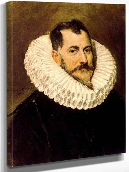 Portrait Of A Gentleman1 By El Greco By El Greco