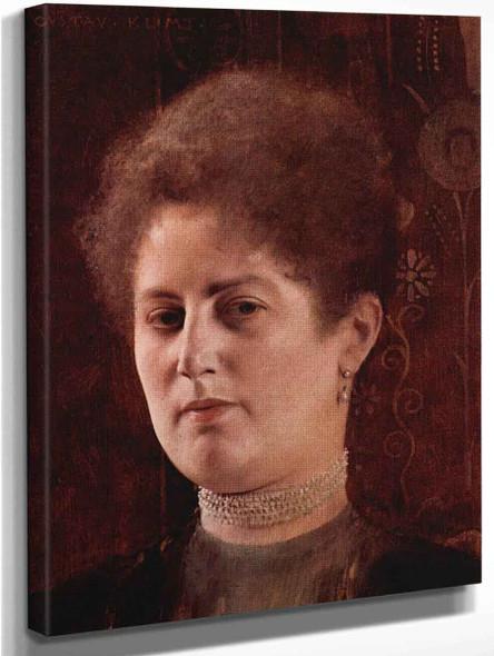 Portrait Of A Lady2 By Gustav Klimt