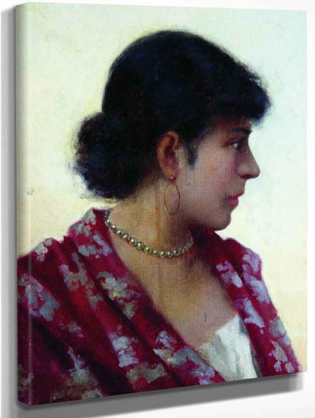 Portrait Of A Lady2 By Hendryk Siemiradzki