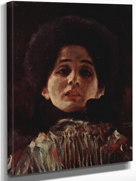 Portrait Of A Lady3 By Gustav Klimt