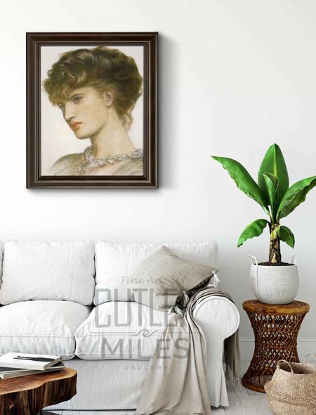 Portrait Of A Lady By Dante Gabriel Rossetti
