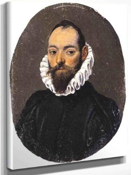 Portrait Of A Man1 By El Greco By El Greco