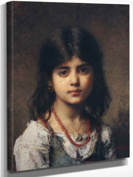 Portrait Of A Young Girl14 By Alexei Harlamoff