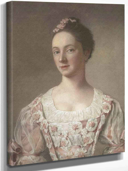Portrait Of A Young Lady By Jean Etienne Liotard