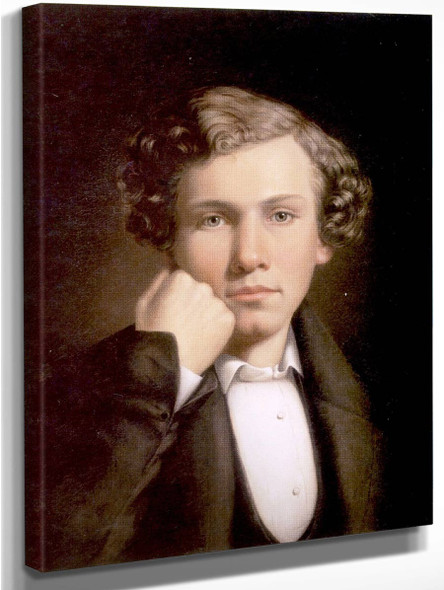 Portrait Of A Young Man 0 By William Tylee Ranney