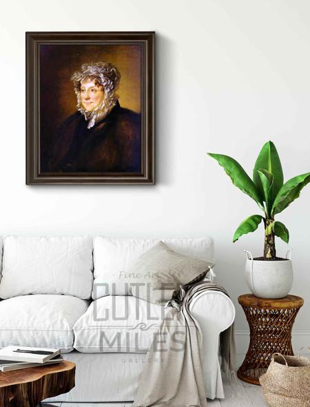 Portrait Of An Elderly Woman In A Bonnet By Vasily Tropinin