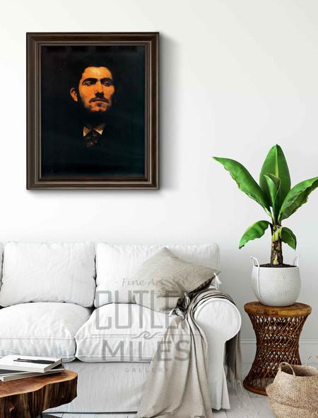 Portrait Of Antonio Pinazo By Ignacio Pinazo Camarlench By Ignacio Pinazo Camarlench