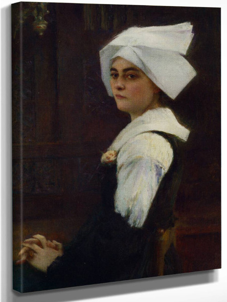 Portrait Of Brittany Girl By Pascal Dagnan Bouveret