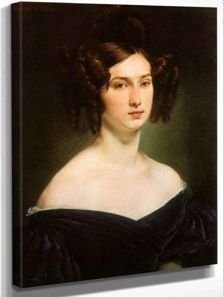 Portrait Of Countess Luigia Douglas Scotti D'adda By Francesco Paolo Hayez Art Reproduction