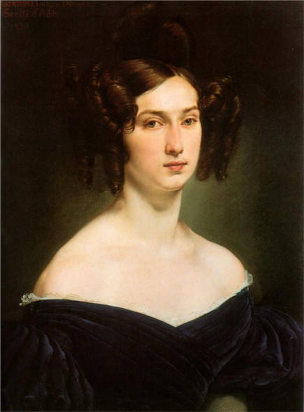 Portrait Of Countess Luigia Douglas Scotti D'adda By Francesco Paolo Hayez
