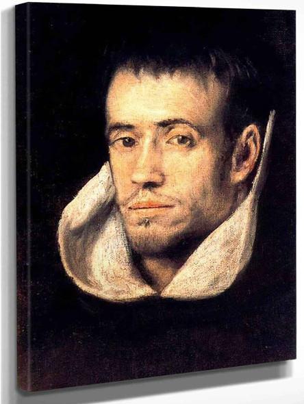 Portrait Of Dominican  Friar By El Greco By El Greco