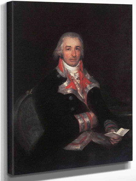 Portrait Of Don Jose Queralto As A Spanish Army Doctor By Francisco Jose De Goya Y Lucientes