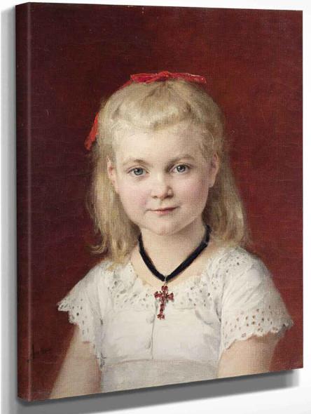 Portrait Of Emilie Weiss By Albert Anker
