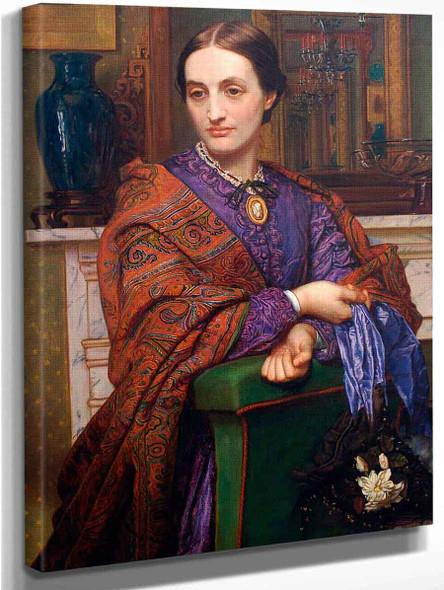 Portrait Of Fanny Holman Hunt1 By William Holman Hunt