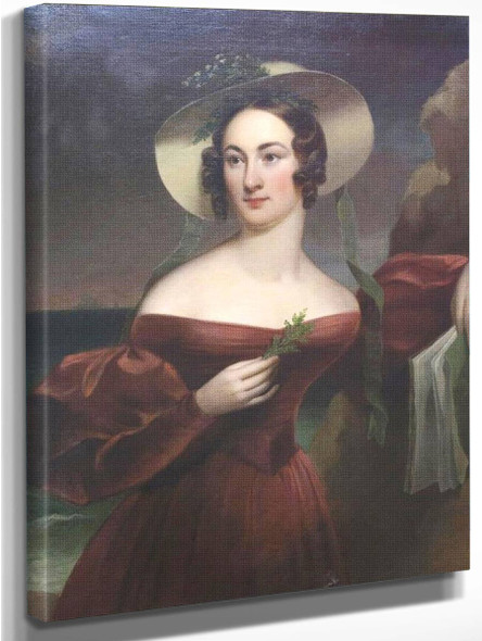Portrait Of Hannah Seagraves Reeves By Thomas Sully