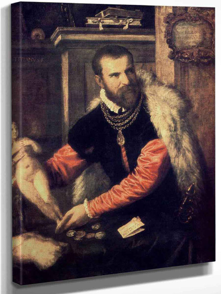 Portrait Of Jacopo Strada By Titian