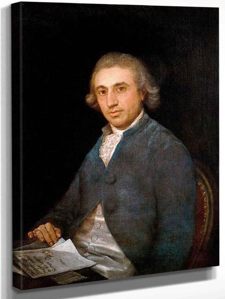 Portrait Of Martin Zapater By Francisco Jose De Goya Y Lucientes