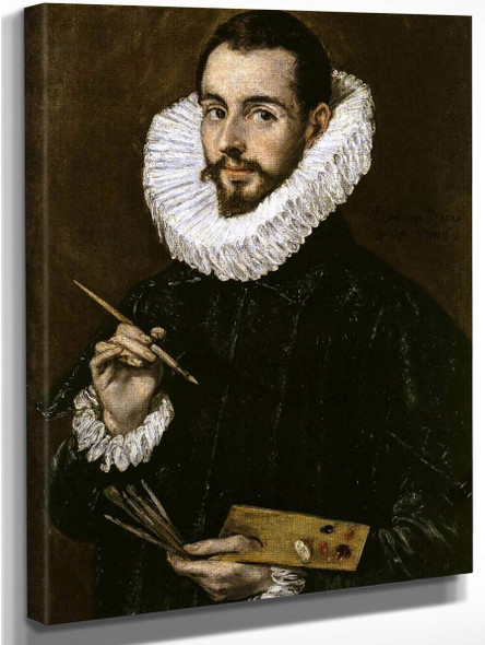Portrait Of The Artist's Son Jorge Manuel Theotokopoulos By El Greco Art Reproduction
