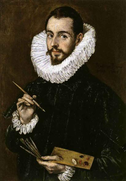 Portrait Of The Artist's Son Jorge Manuel Theotokopoulos By El Greco By El Greco