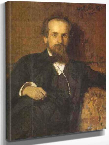 Portrait Of The Artist Pavel Tchistyakov. By Ilia Efimovich Repin