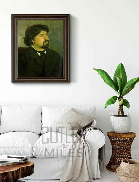 Portrait Of The Artist Vasily Surikov. By Ilia Efimovich Repin