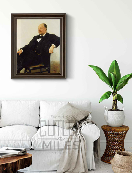 Portrait Of The Composer Anatoly Konstantinovich Lyadov. By Ilia Efimovich Repin