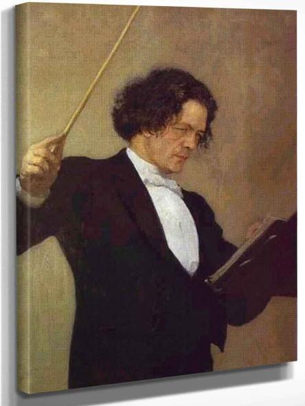 Portrait Of The Composer Anton Rubinstein. 1 By Ilia Efimovich Repin