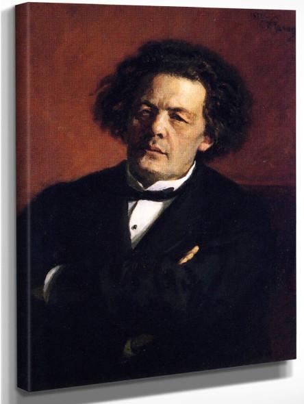 Portrait Of The Composer Anton Rubinstein. By Ilia Efimovich Repin