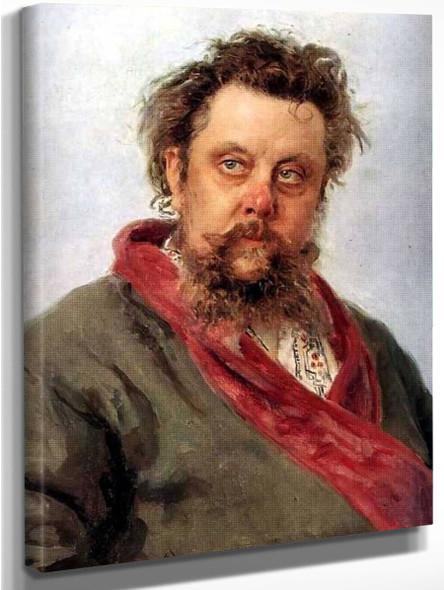 Portrait Of The Composer Modest Musorgsky. By Ilia Efimovich Repin