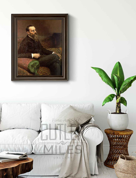 Portrait Of The Composer Nikolay Rymsky Korsakov. By Ilia Efimovich Repin