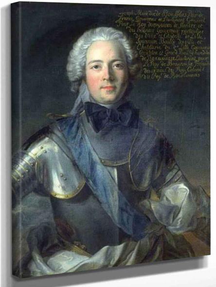 Portrait Of The Duc De Boufflers By Jean Marc Nattier