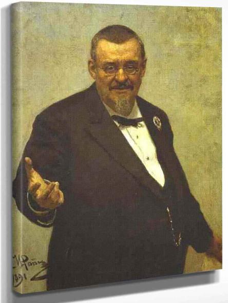 Portrait Of The Lawyer Vladimir Spasovitch. By Ilia Efimovich Repin
