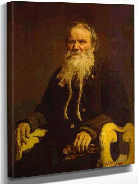 Portrait Of The Narrator Of The Folk Tales V. Tschegolionkov. By Ilia Efimovich Repin