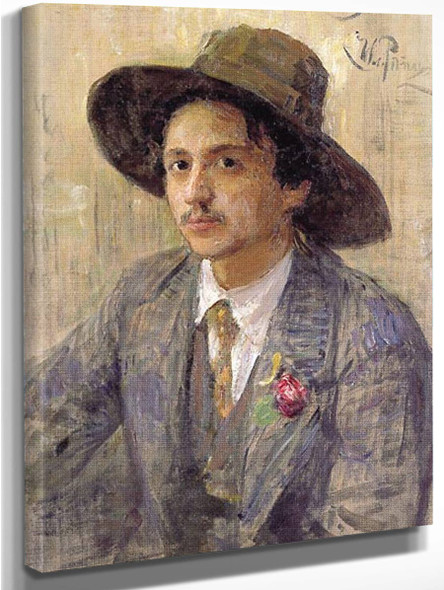 Portrait Of The Painter Isaak Izrailevich Brodsky. By Ilia Efimovich Repin