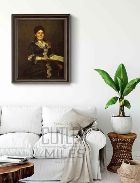 Portrait Of The Singer Alexandra Molas. By Ilia Efimovich Repin