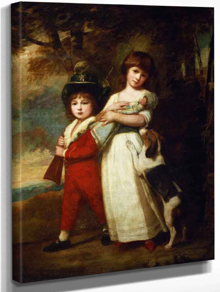 Portrait Of The Vernon Children By George Romney