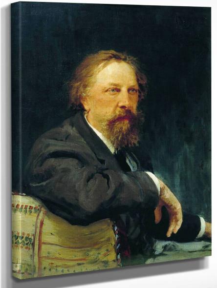 Portrait Of The Writer Aleksey Konstantinovich Tolstoy. By Ilia Efimovich Repin
