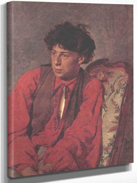 Portrait Of V. E. Repin, The Artist's Brother. By Ilia Efimovich Repin Art Reproduction