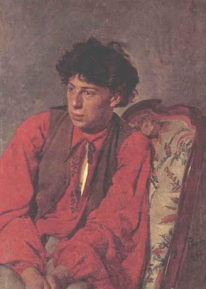 Portrait Of V. E. Repin, The Artist's Brother. By Ilia Efimovich Repin